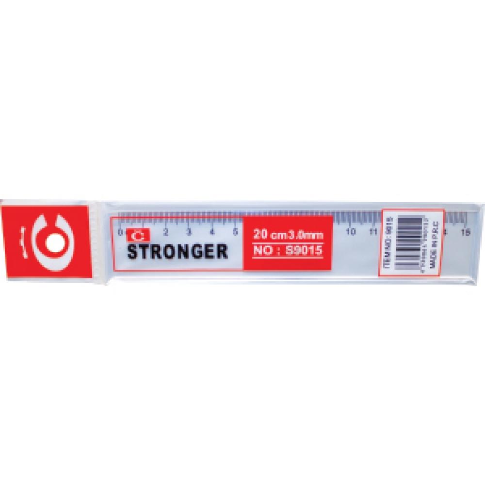 STRONGER TRANSPARENT RULER 15 CM