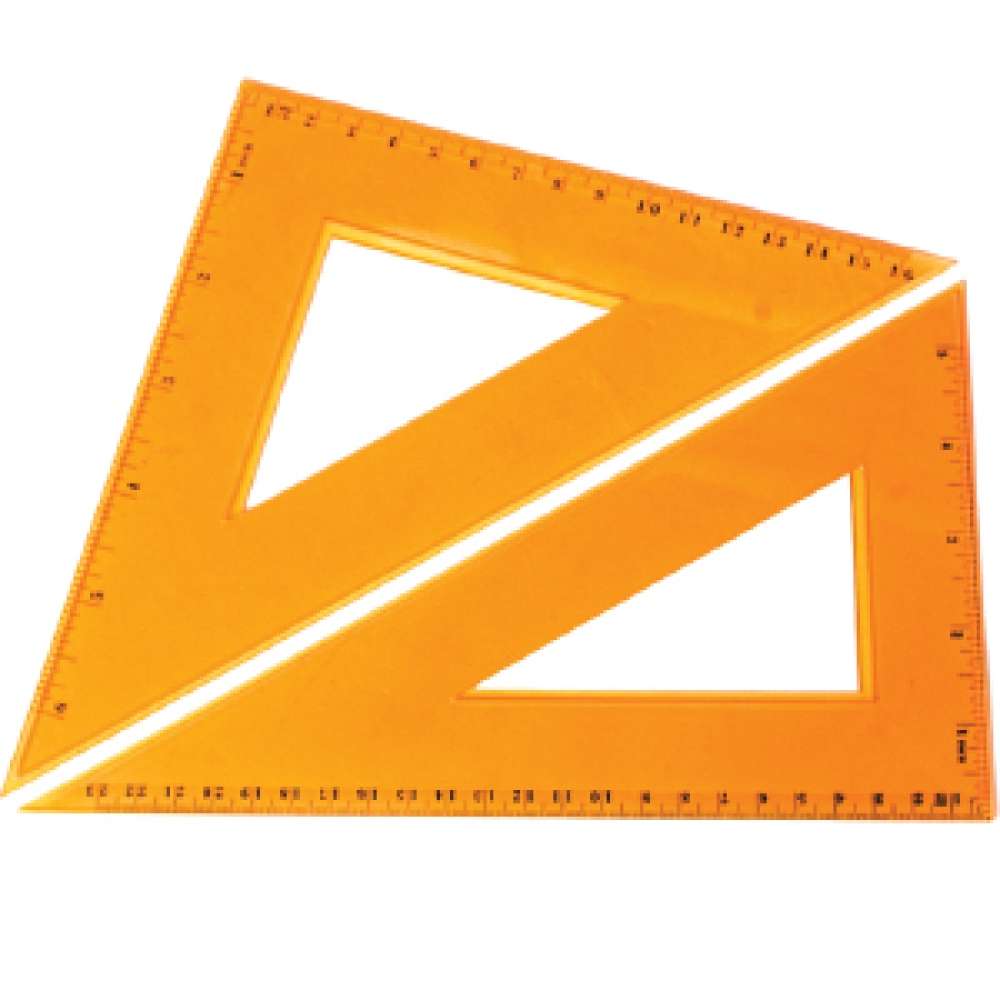 STRONGER SET OF YELLOW TRIANGLES 23 CM