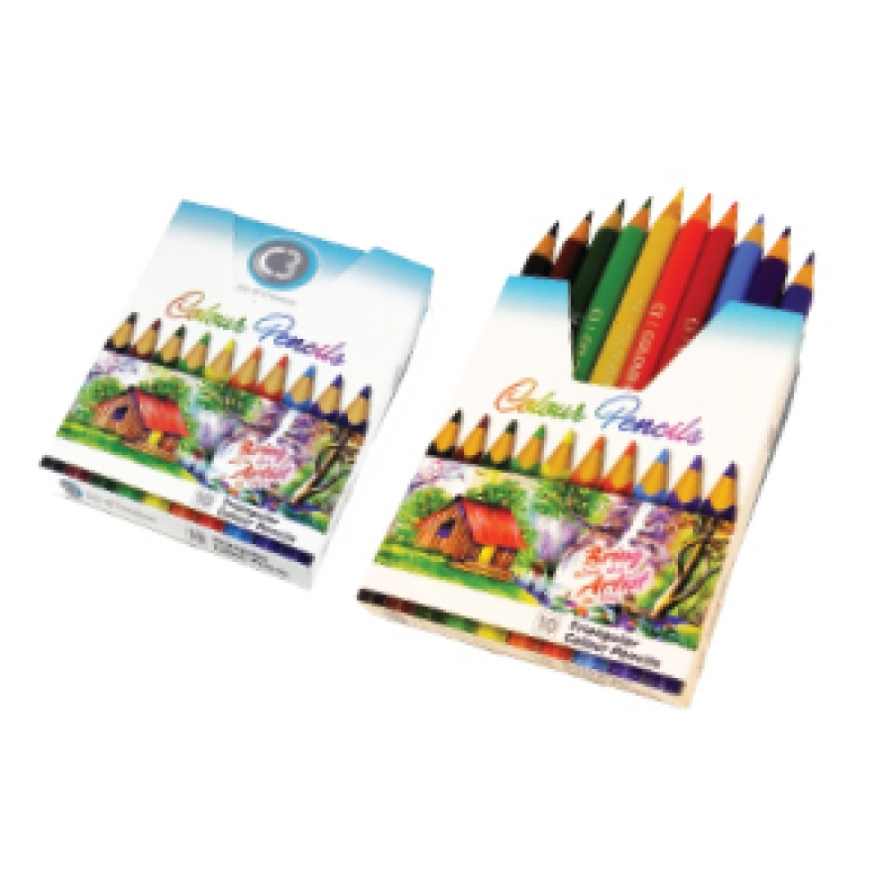 C3 SHADES TRIANGULAR COLOUR PENCILS 10  7926