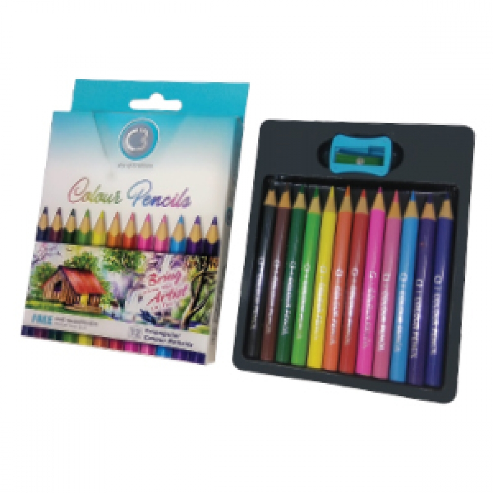 C3 SHADES TRIANGULAR COLOUR PENCILS 12 7900