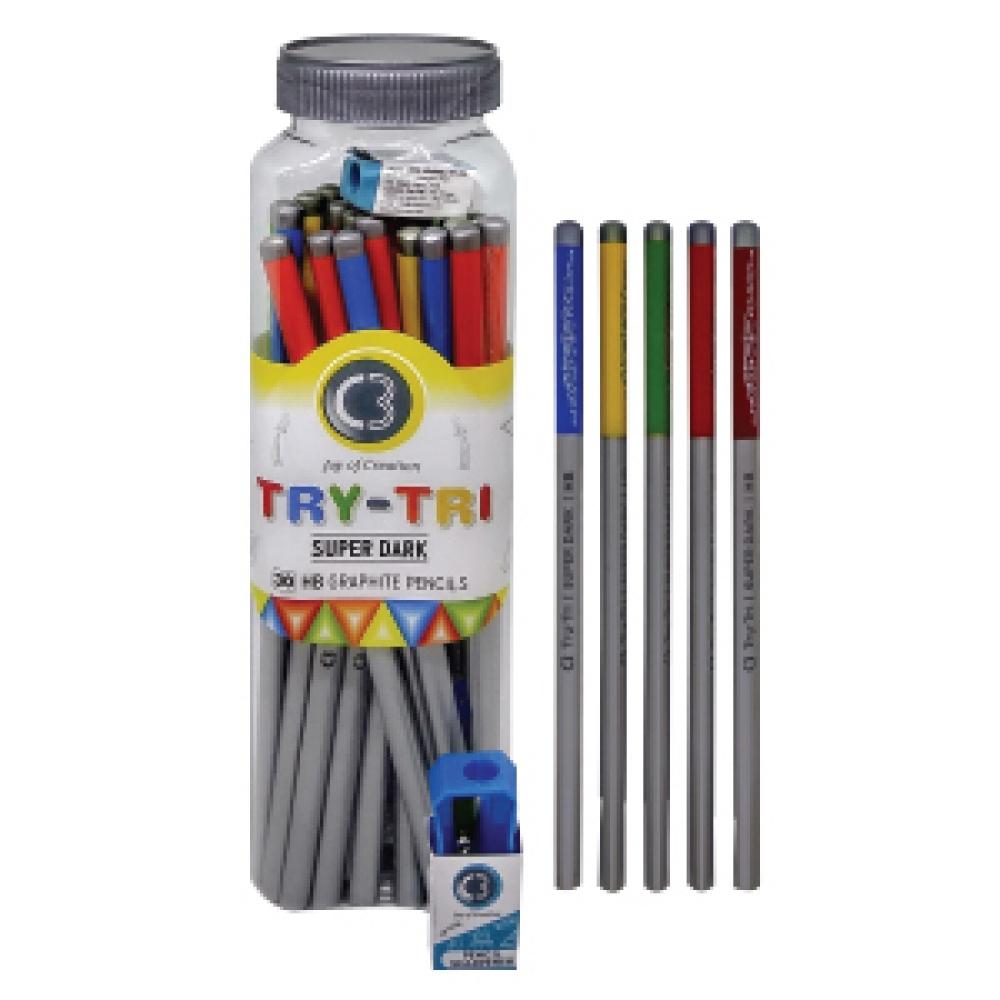 C3 TRY-TRI PENCILS JAR 7149