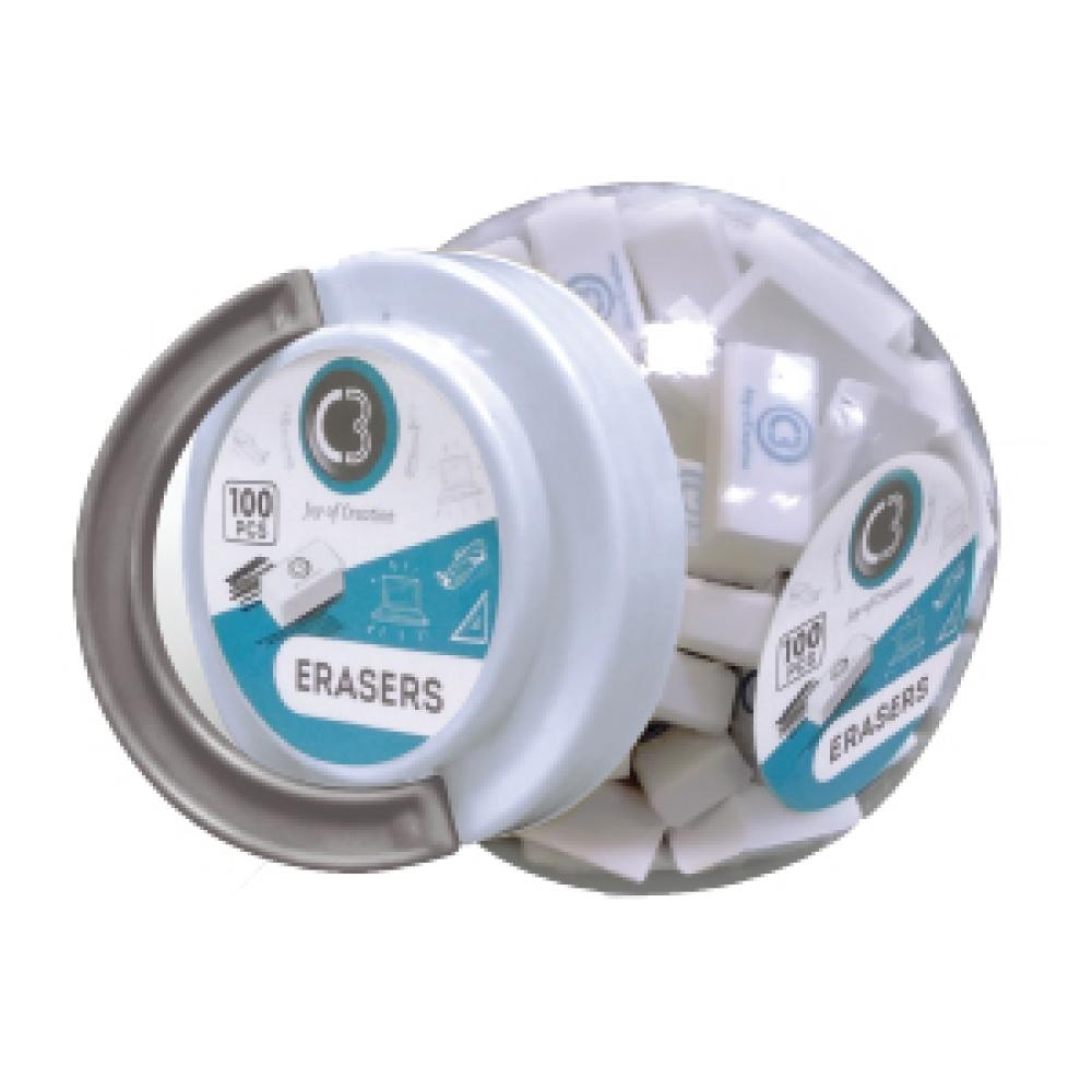 C3 DUST-FREE ERASERS JAR 7488-7021